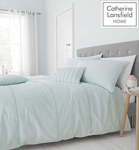 Catherine Lansfield Pom Pom Easy Care Double Duvet Set Mint