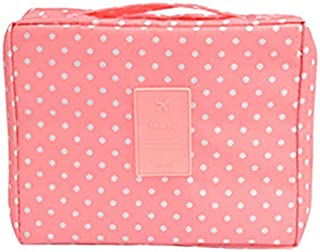 BeautyRosy - Waterproof Travel Cosmetic Bag - Pink Dots