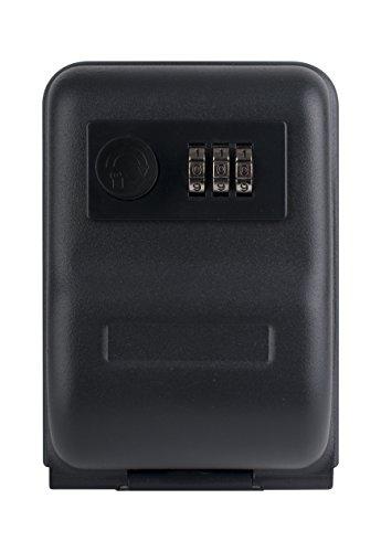 Unbekannt Pavo, schwarz Premium Schlüsseltresor/Schlüsselsafe/Schlüsselschrank mit Zahlenkombinationsschloss für Wandmontage, 14,5 x 10,0 x 5,7 cm, Metall, 14.5 x 10 x 5.7 cm