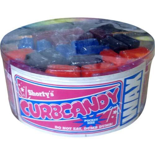 Shortys Skateboards Curb Candy 25 Stück Behälter oder Panzerkette Wachs – 25 Stück
