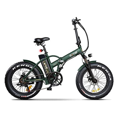 Icon.e Green Marines - Bicicleta eléctrica Plegable de 250 W, Unisex, no tamaño