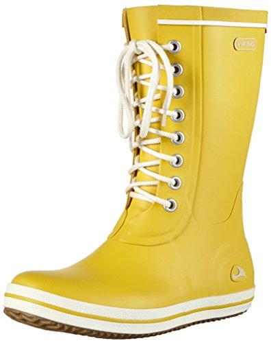 Viking Retro Light, Damen Halbschaft Gummistiefel, Gelb (Yellow 13), 37 EU