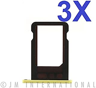 ePartSolution_Lot of 3 iPhone 5C Nano Sim Card Tray Slot Holder SIM Tray Replacement Part USA Seller (Yellow)