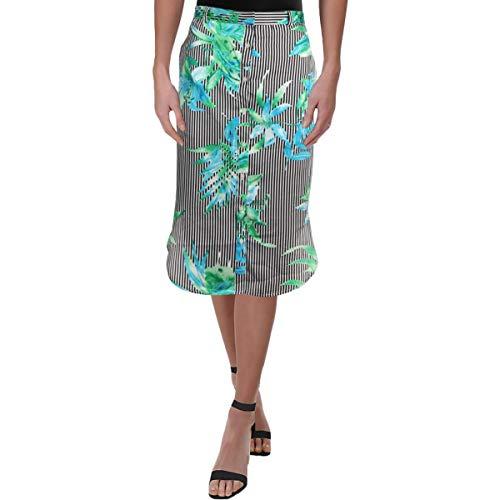 LAUREN RALPH LAUREN Womens Floral Print Twill Pencil Skirt B/W 6