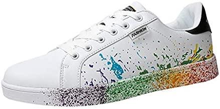 Sunhusing Women's Color Graffiti White Shoes Sports Shoes Running Shoes