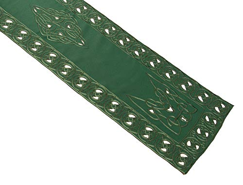 Celtic Knot Table Runner with Cutwork Detail Dining Kitchen Tableware Tablecloth Cover (13' x 72')