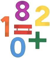 [スクールスマート]School Smart Jumbo Magnetic Numbers in Storage Tub 2 1/2 inches Set of 42 Multiple Colors 070615 [並行輸入品]