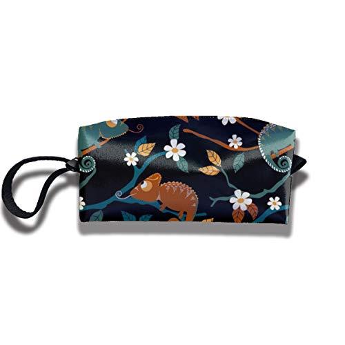 Bbhappiness Pouch Handbag Cosmetics Bag Case Purse Travel & Home Portable Make-up Receive Bag Animal On Black