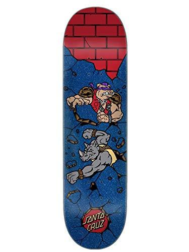 Santa Cruz x TMNT Skateboard Deck Bebop and Rocksteady 8.125