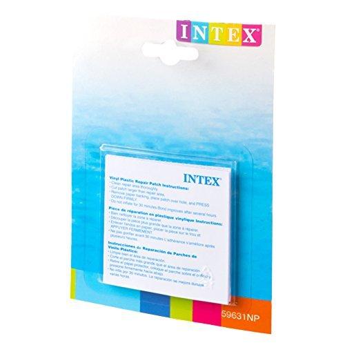 Intex-174619 Toppe di Riparazione, Colore Bianco, 7 x 7 x 0,1 cm, 59631