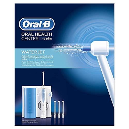 Oral-B Waterjet - Sistema de Limpieza Irrigador Bucal con Tecnología Braun, 4 Cabezales