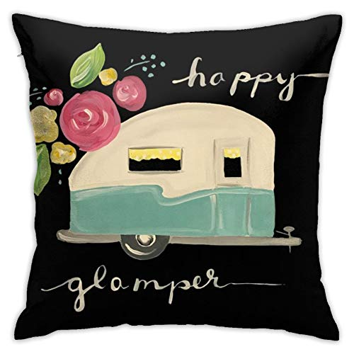 antoipyns Birthday Cake 3D Printed Pattern Square Cushiondecorative Pillow Case Home Decor Square 18x18 Inches Pillowcase/Living Room/Car/Bedroom