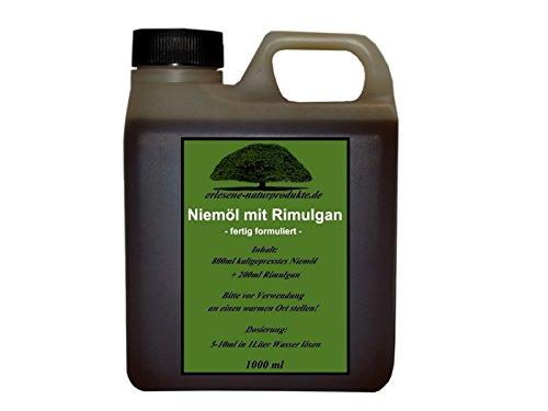 erlesene-naturprodukte.de Niemöl mit Rimulgan (Emulgator) 1 Liter/Niem Neem ***FERTIG GEMISCHT