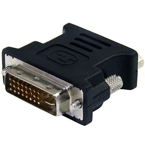 StarTech.com Adattatore DVI a VGA, Convertitore Cavo DVI a VGA, Maschio/Femmina, M/F, Nero