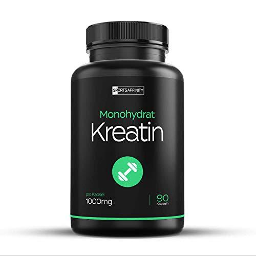 Creatin Monohydrat Kapseln | Creatine Monohydrate | 3408 mg pro Tagesdosis Kreatinpulver Geschmacksneutral | Kreatin Pulver zur Erhöhung der körperlichen Leistung, Made In Germany