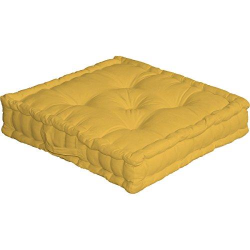 Enjoy Home 2007JACS050050 - Cuscino da pavimento con manico, 50 x 50 x 10 cm, colore: Giallo