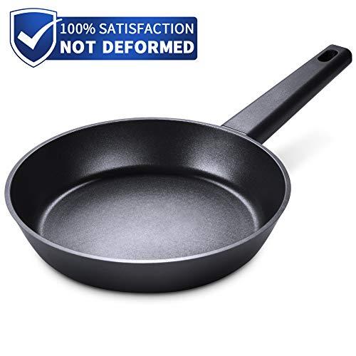 SKY LIGHT Bratpfanne Pfanne 24cm mit Antihaftbeschichtung Titanium Plus aus Aluminiumguss Omelett No-Stick Kochgeschirr für Induktion und Spülmaschinengeeignet