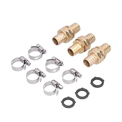 3 set di connettori per tubo in ottone americano da 3/4 di pollice con attacco rapido per tubo da giardino con attacco rapido per connettore da giardino