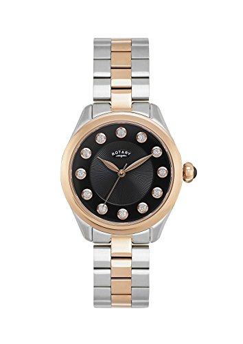 Rotary Reloj Análogo clásico para Mujer de Cuarzo con Correa en Acero Inoxidable LB010/W/10
