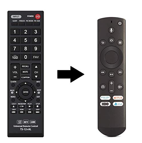 Universal CT-RC1US-19 Remote Control for All Toshiba Fire TV Edition, Smart TV, LED/LCD TV and Toshiba fire tv with Learning Function - 1 Year Warranty(TS12)