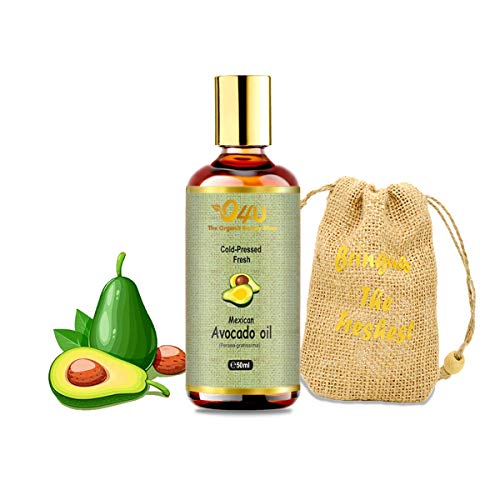 O4U 100% Organic Cold Pressed Mexican Avocado Oil for Hair, Skin and Face - 50 ml
