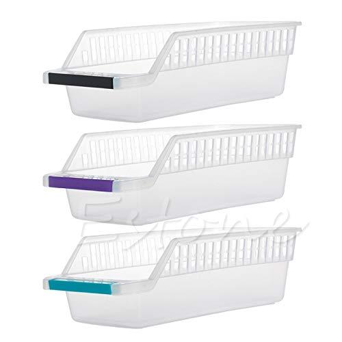 Cajón de frigorífico Caja colectora de almacenamiento Cesta Cocina Refrigerador Organizador de frutas Soporte para estante (4 piezas, color aleatorio)