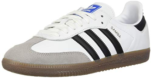 shoes for cheap best place reasonably priced Adidas ORIGINALS Women's Samba OG Shoes Shoe, Footwear White/Core  Black/Clear Granite, 8.5 M US