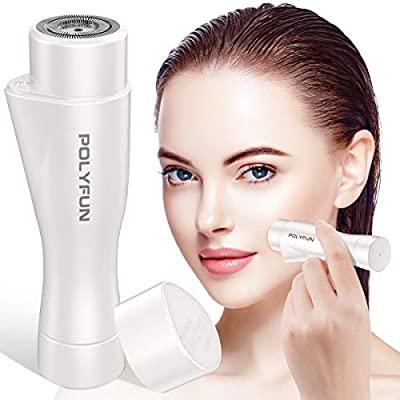 Updated 2020 Version Professional Facial Hair Removal for Women, Electric Painless Perfect Hair Remover Trimmer for Face, Armpit, Chin and Full Body, Waterproof with LED Light by TEMINICE