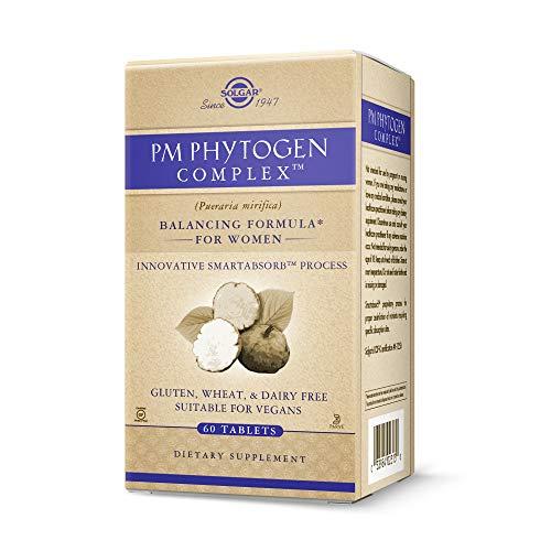 Solgar PM PhytoGen Complex, 60 Tablets - Pueraria Mirifica - Balancing Formula for Women, Energy Metabolism, Nervous System Health - Vegan, Gluten Free, Dairy Free, Kosher - 60 Servings