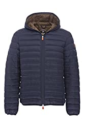 Quilted Navy Save The Duck Jacket For Men