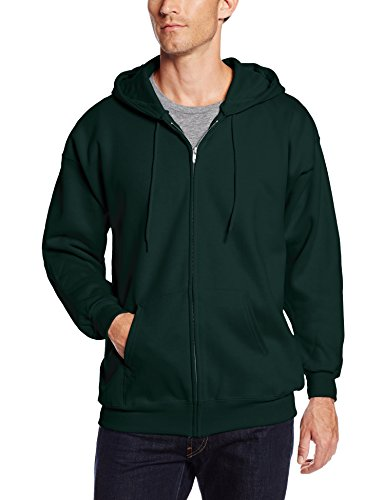 Hanes Men's Full Zip Ultimate Heavyweight Fleece Hoodie, Deep Forest, X-Large