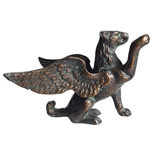 Mnjin Decoración del hogar Decoración de la Estatua del león, Escultura del león Alado Artesanías de Hierro Fundido Modelo Creativo Retro Animal casero