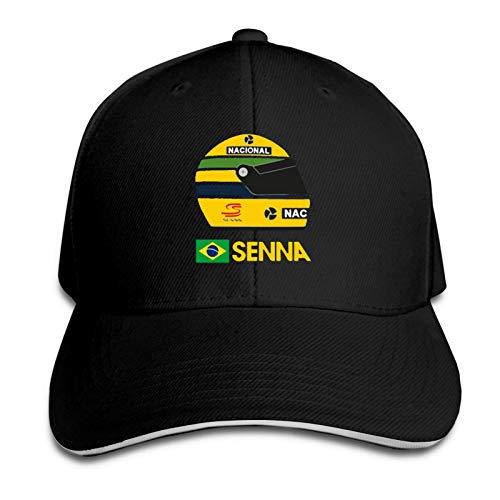 Ayrton Senna Formula 1 Helmet Gorra de béisbol Ajustable Unisex Sombrero sándwich Sombrero de Camionero Hip Hop Sombreros de ala Plana Sombrero de Vaquero Baseball Cap