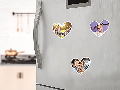 Oedim Pack 9 Imanes Personalizados para Nevera, Forma de Corazón, Resistentes y Económicos