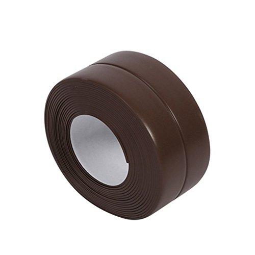 Bodhi2000Streifen Dichtungsband für Badewanne Wand Küche Badezimmer, Zierteile, wasserdicht Formstoßleisten, PVC-Klebeband, PVC, braun, 38 mm