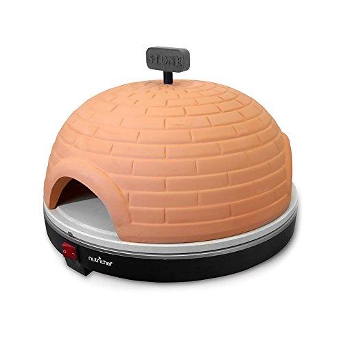 NutriChef Upgraded Electric Pizza Oven - Artisan Version 1100 Watt Countertop Pizza Maker, Mini...
