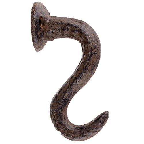 Brown Cast Iron Octopus Tentacle Metal Wall Hook With Hanging Hardware Bathroom Wall Towel Hook Nautical Theme Coat Hooks