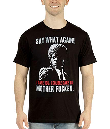 Pulp Fiction Say What Again I Dare You T-Shirt-X-Large Black
