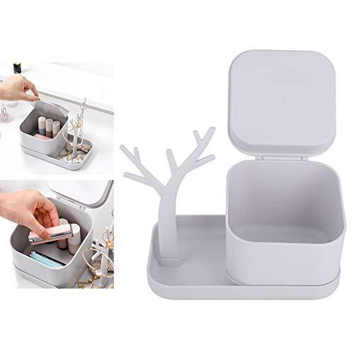 Opbergdoos voor desktop-make-up, multifunctionele opbergdoos voor desktop-organizer voor oorbellen met lippenstift-make-up gereedschap