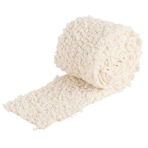 Ideen mit Herz Kunstfell-Band Teddy | Fellstoff | 8 cm breit | 2 m lang | creme-weiß | ideal zum Basteln, Nähen, Dekorieren | Tischläufer