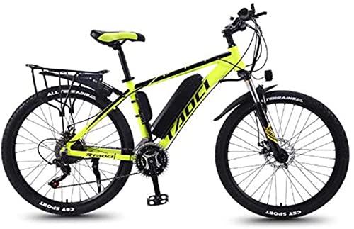 Bicicleta De Montaña Eléctrica De 26 '' con Batería Extraíble De Iones De Litio De Gran Capacidad (36V 350W 8Ah) Frenos De Disco Doble para Ciclismo Al Aire Libre Viajes Entrenamiento Montar Al Aire