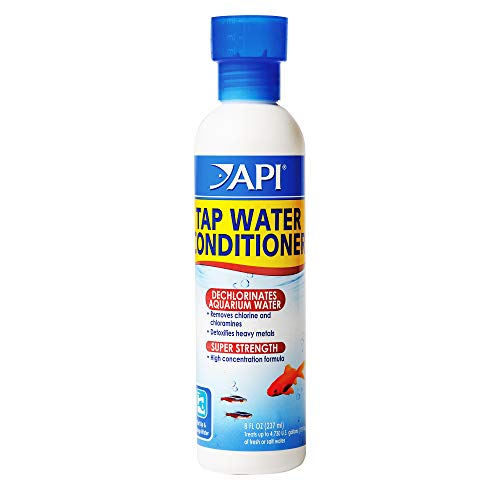 API TAP WATER CONDITIONER Aquarium Water Conditioner 8-Ounce Bottle, White (52A),8 oz