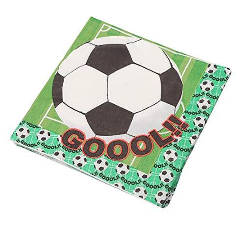 Kissherely Fußball Thema Party Pack Supplies Kinder Geburtstag Fußball Dekorationen Geschirr Tischdecke Bunting Banner (Serviette 20 Blatt)