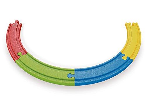 Hape - E3804 - Circuit de Train en Bois - Rail - Multicolore
