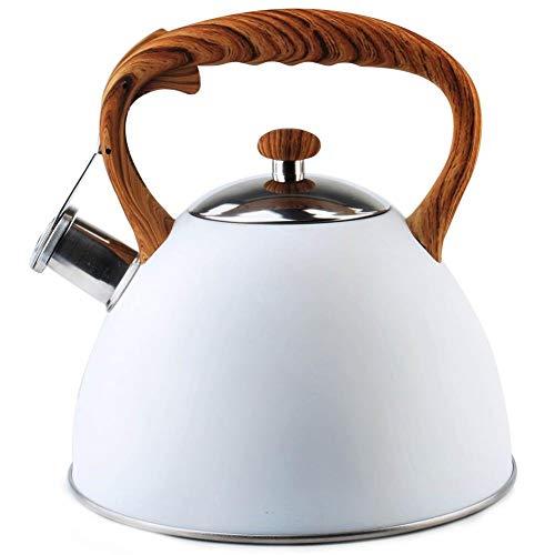 ORION Wasserkessel Wasserkocher Teekessel Flötenkessel MODERN automatisch WEISS 3L Gas Induktion