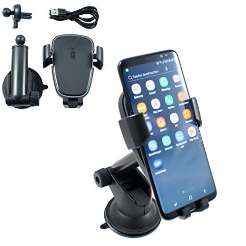 Smart Planet® Inductie mobiele telefoon houder set oplader voor auto Qi FastCharger mobiele telefoon houder ventilatierooster en zuignap smartphone houder