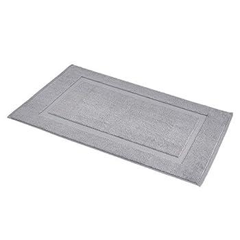 Amazon Basics Banded Bathroom Bath Rug Mat - 20 x 31 Inch Powder Grey