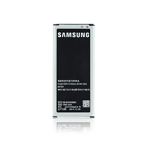 Samsung BG850BBC - Batería Original para Samsung Galaxy Alpha (1860 mAh, Carga rápida, sin Caja)