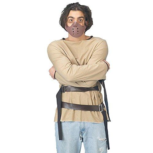 Bristol Novelty AC402 Zwangsjacke mit Hannibal-Maske, Medium, Mehrfarbig, M