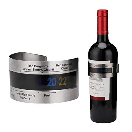 Froiny 1pc Weinthermometer, Edelstahl Rotwein Temperatursensor 4-26 Grad Celsius Weinmesswerkzeuge